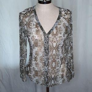 INC International Concepts sheer Womens shirt Bin6
